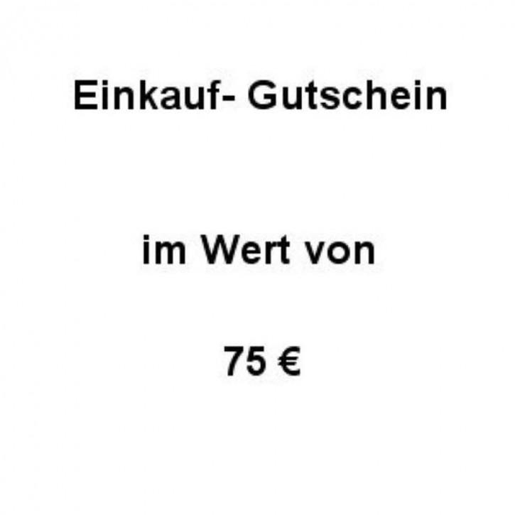 Einkaufsgutschein Wert 75 €