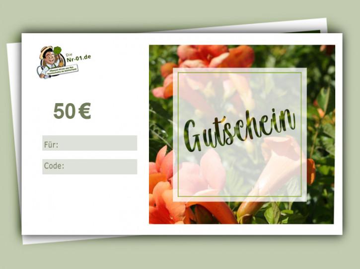50 € Geschenkgutschein für Gartenpflanzen