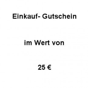 Einkaufsgutschein Wert 25 €
